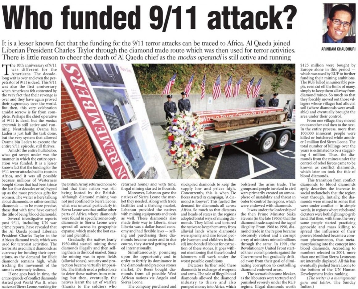 Who Funded 9 11 Attack The Pioneer 16 September 2011